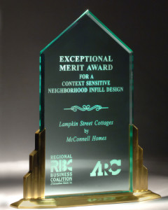 Design Award given to Dennis McConnell for the Lampkin Street Cottages in Old Fourth Ward