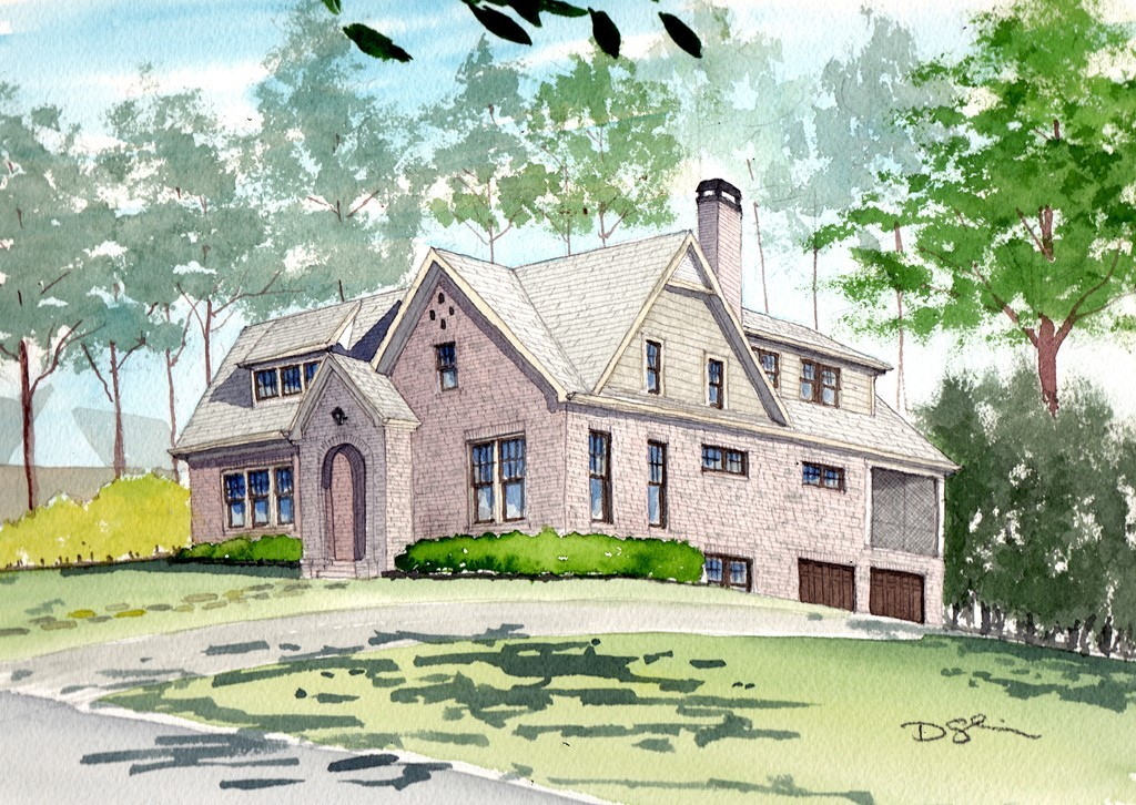 Architects rendering of 1890 Ridgewood Dr in Druid Hills.